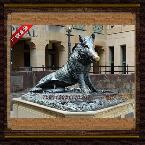 供应  野猪铜雕    品牌雕塑    厂家直销
