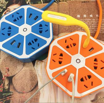 供应 创意智能柠檬插排插座