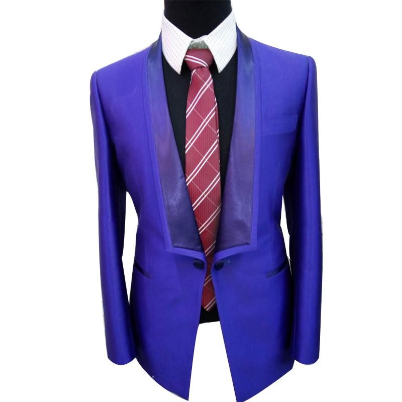 定制 精做西服  紫色西装