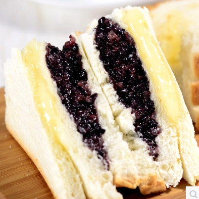 纽尔多新鲜奶酪紫米面包110g  夹心