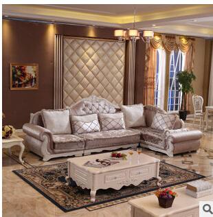 欧式布艺沙发 简欧沙发 象牙白雕花 客厅家具 #s08