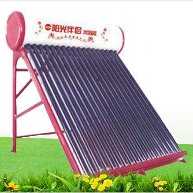 阳光伴侣直销三腔真空管太阳能热水器 高密度保温层一体式热水器