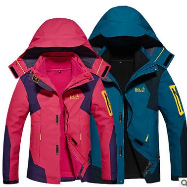 三合一户外冲锋衣 男女情侣款两件套大码8XL 登山服可定制LOGO