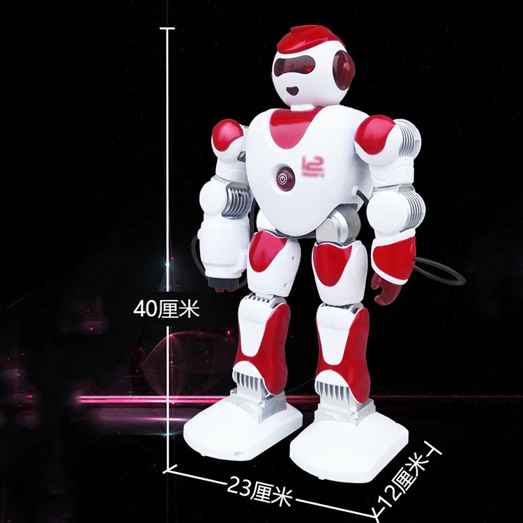 智能遥控机器人 机械战警3-6周岁7岁8儿童礼物语音对话机器人玩具 红色智能战警 官方标配