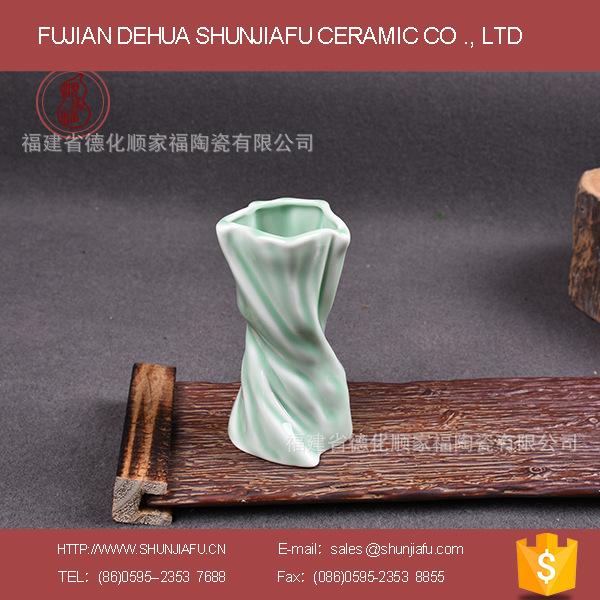 陶瓷青瓷花瓶精致办公休闲家具摆设花瓶工艺品个性青瓷花瓶批发