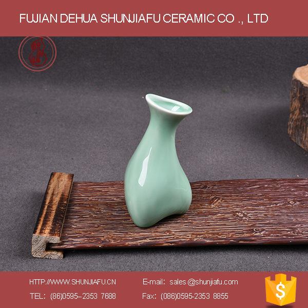 陶瓷青瓷花瓶精致办公休闲家具摆设花瓶工艺品批发