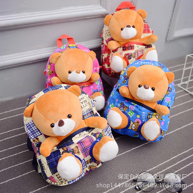 外贸卡通小动物书包2-3岁宝宝零食包可爱迷你玩具双肩包一件代发