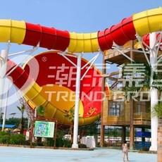 广州潮流大型水上乐园设备喇叭滑梯系列