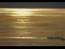 湖光曲 油画