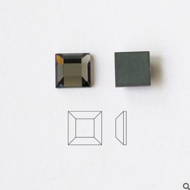 厂家直销 40色可选 方形钻面 平度镀银 玻璃钻 玻璃水晶饰品