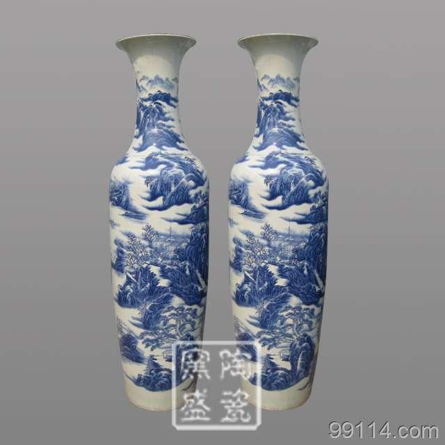 景德镇陶瓷大花瓶、青花瓷花瓶、礼品花瓶、乔迁礼品花瓶、景德镇花瓶