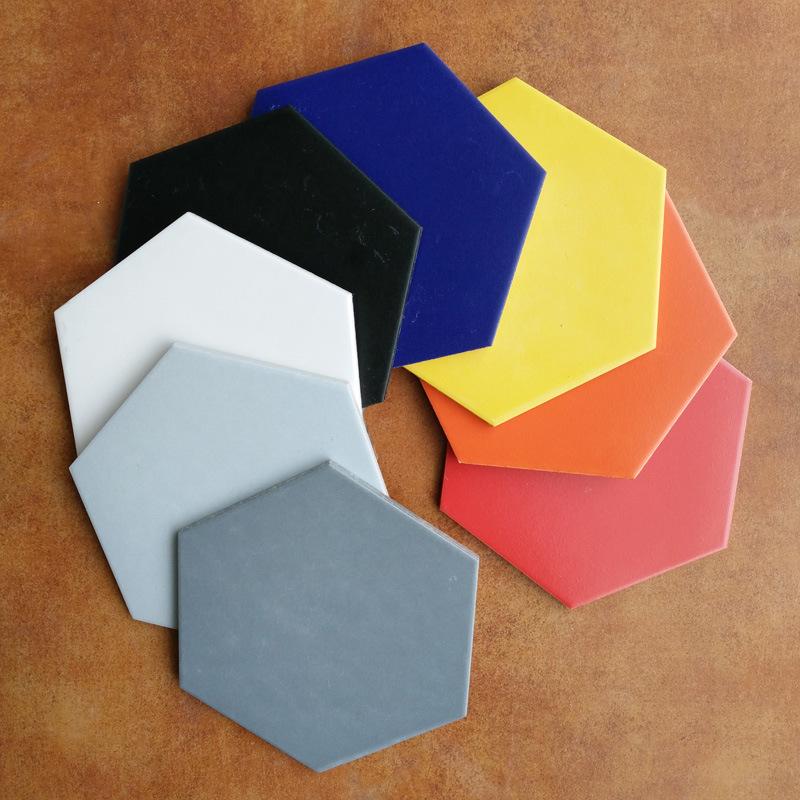 工程外贸瓷砖卫生间地砖陶瓷墙砖 亚光六角砖防滑地板瓷片