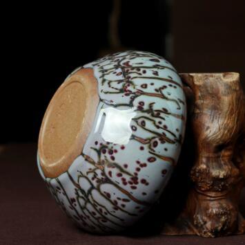 钧瓷花瓶礼品摆件原产地钧窑花器王秋红大师手工作品精品摆件正品