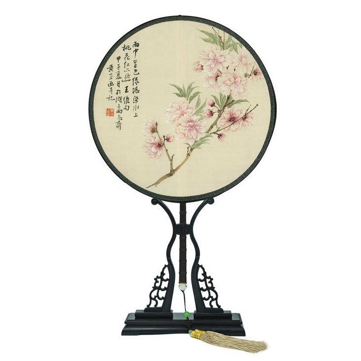 中国特色礼品双面刺绣布艺工艺品苏绣纯手工饰品摆件