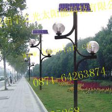 太阳能庭院路灯富源高效LED太阳能庭院灯照明好亮度强会泽花园