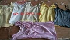 天然纤维:针织无缝吊带衫、背心