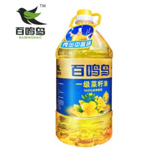 厂家直供 百鸣鸟5L一级菜籽油 食用油批发