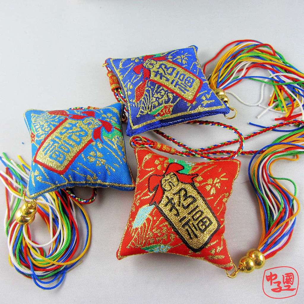 义乌厂家直销 端午节招财猫香包批发 五彩香包辟邪香袋福袋