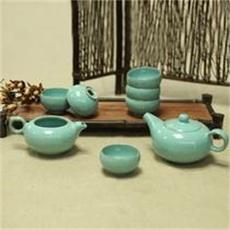 天青茶具   卢钧窑近代创意新古典类茶具