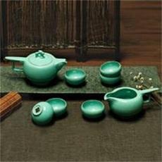 天青剑胆茶具  卢钧窑近代创意异国情调风茶具