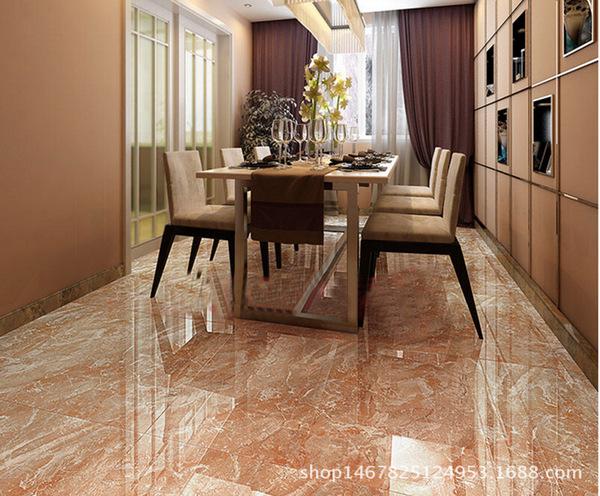 佛山瑞亿翔陶瓷 全抛釉客厅地板砖 耐磨防滑西施红地砖 800x800