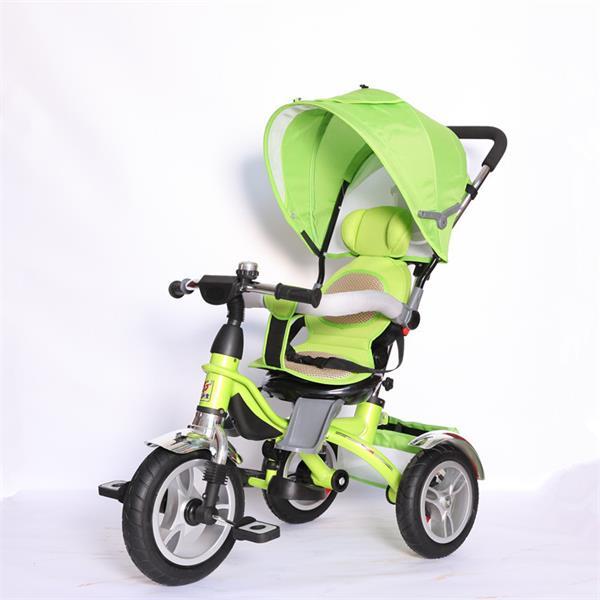 大号四合一天航儿童三轮童车 全棚减震旋转座椅