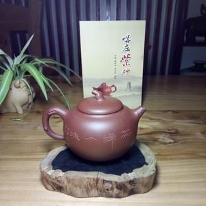 喀左紫砂壶品名:茄段,泥料,清水泥。容量:370cc全手工制作而成,做工精细