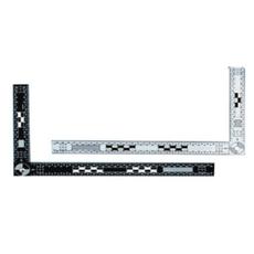 30×15厘米双面黑白折角尺