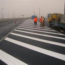 陕西沥青路水泥路专业标线划线公司电话 冷涂漆划线