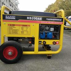 翰丝190A单相汽油自发电的焊机便携式