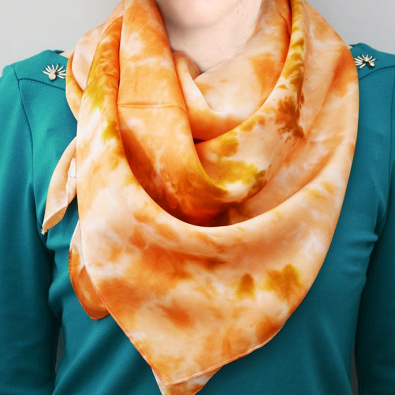 佳合 丝巾 真丝丝巾 真丝洋纺丝巾  真丝素皱缎方巾百分百桑蚕丝 多种颜色订购前请咨询