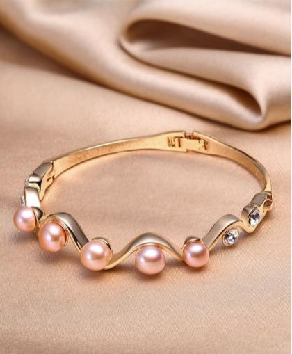 珍珠批发市场 SANDYRILLA 优雅复古风精致天然珍珠手镯 附证书