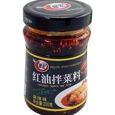供应翠宏红油拌菜料 200g 辣椒油