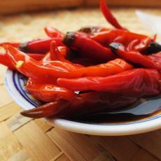 供应自制酱腌红辣椒100g装味美