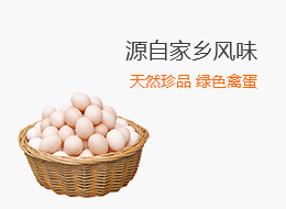 天然珍品 绿色禽蛋 源自家乡风味