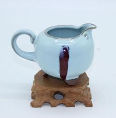 月白釉公道杯 现代艺术品 新古典传统 收藏品 礼品 结婚首选