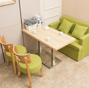 供应 简约西餐厅实木沙发桌椅组合