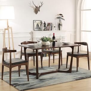 供应 牛角椅实木餐椅时尚简约餐厅酒店咖啡椅日式餐椅原木椅子