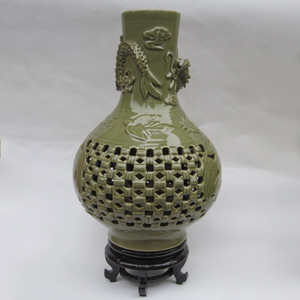 供应 耀州瓷天球瓶