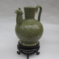 供应 耀州瓷双凤壶