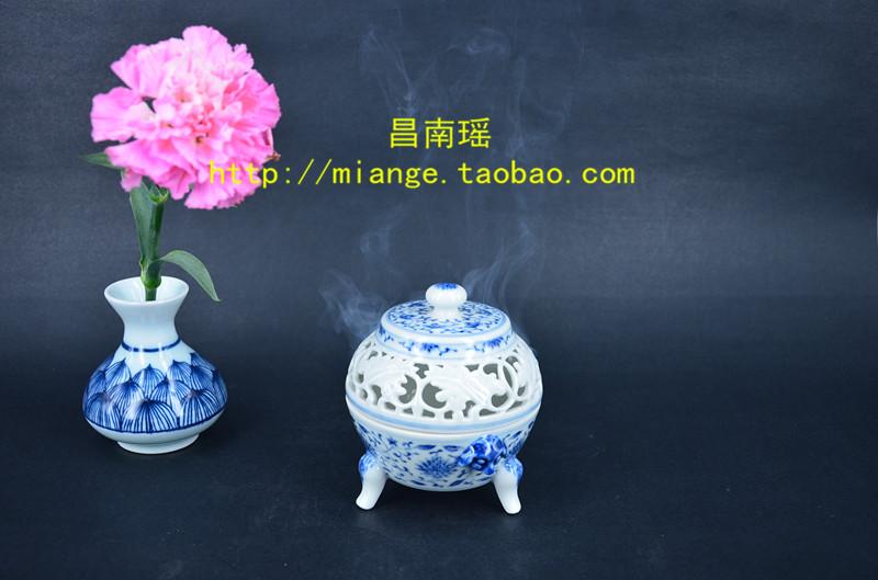 正宗陶瓷仿古香炉/镂空陶瓷工艺香炉