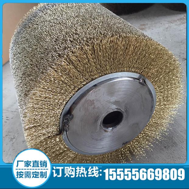 供应不锈钢钢丝刷辊 钢丝轮不锈钢轴毛刷辊钢丝滚 圆形钢丝刷价格仅参考