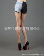 供应   新款韩版修身显瘦深色破洞牛仔裤女士小脚铅笔裤长裤磨破