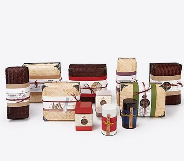 昌盛厂家定制 高档创意茶叶礼品盒竹编盖纸盒精品包装图片
