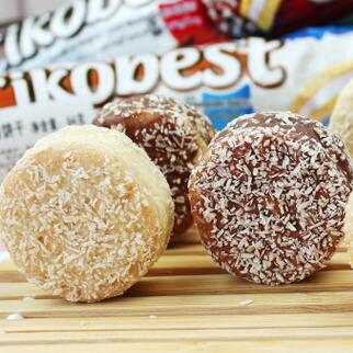 供应 土耳其进口零食KARSA咔咔莎 香蕉椰蓉饼 夹心饼干甜食糕点 64g