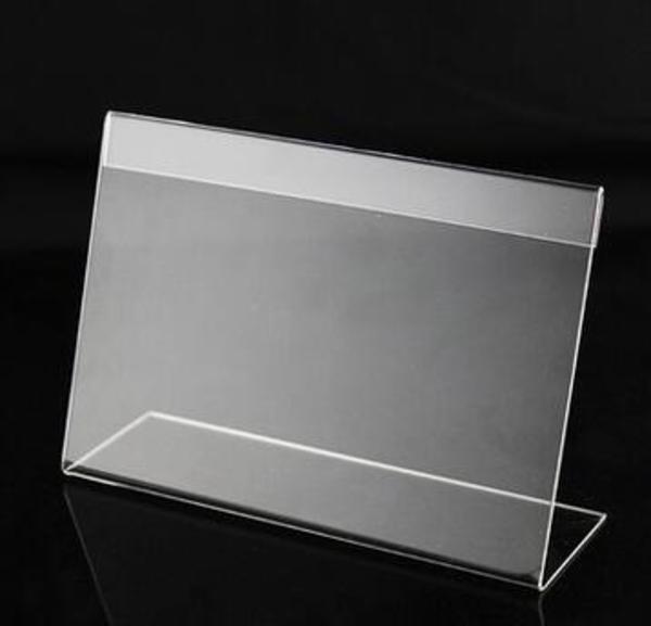 亚克力台卡台牌 l型标签牌子 有机玻璃桌签 资料介绍牌 批.图片