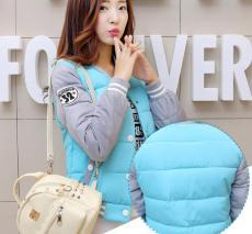 新款冬装韩版羽绒服 女短款棒球服棉衣外套女学生棉袄