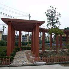 新疆塑木廊架 新疆园林廊架供应厂家 华庭廊架抗紫外线经久耐用