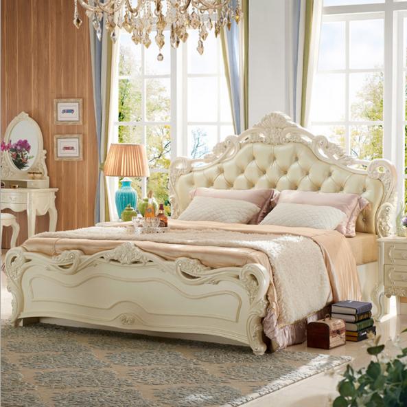 法式卧室双人储物高箱床