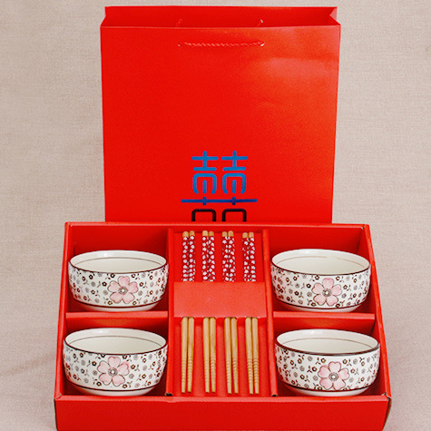 供应日式碗碟套装碗筷餐具瓷器高档陶瓷婚庆回礼礼品